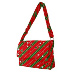 Christmas Paper Star Texture Full Print Messenger Bag (m) by Vaneshart