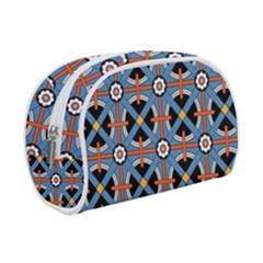 Pattern Weave Background Blue Red Black Makeup Case (small)