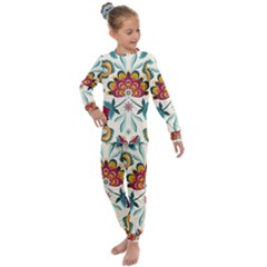 Baatik Print  Kids  Long Sleeve Set  by designsbymallika