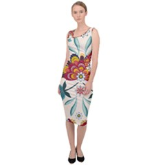 Baatik Print  Sleeveless Pencil Dress by designsbymallika