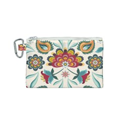 Baatik Print  Canvas Cosmetic Bag (small) by designsbymallika