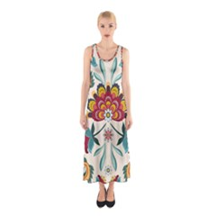 Baatik Print  Sleeveless Maxi Dress by designsbymallika