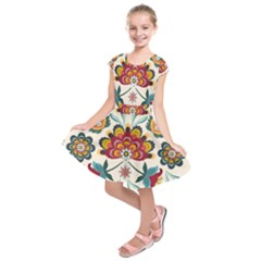 Baatik Print  Kids  Short Sleeve Dress by designsbymallika