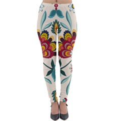 Baatik Print  Lightweight Velour Leggings by designsbymallika