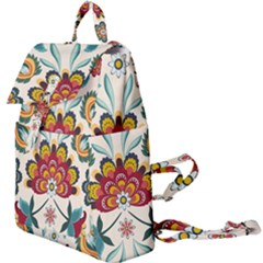 Baatik Print  Buckle Everyday Backpack by designsbymallika