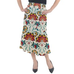 Baatik Print  Midi Mermaid Skirt by designsbymallika