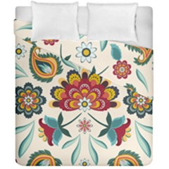 Baatik Print  Duvet Cover Double Side (california King Size) by designsbymallika