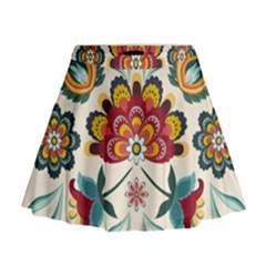 Baatik Print  Mini Flare Skirt