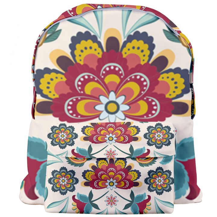 Baatik Print  Giant Full Print Backpack