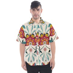 Baatik Print  Men s Short Sleeve Shirt