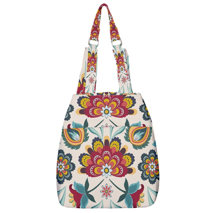 Baatik Print  Center Zip Backpack