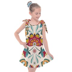 Baatik Print  Kids  Tie Up Tunic Dress by designsbymallika