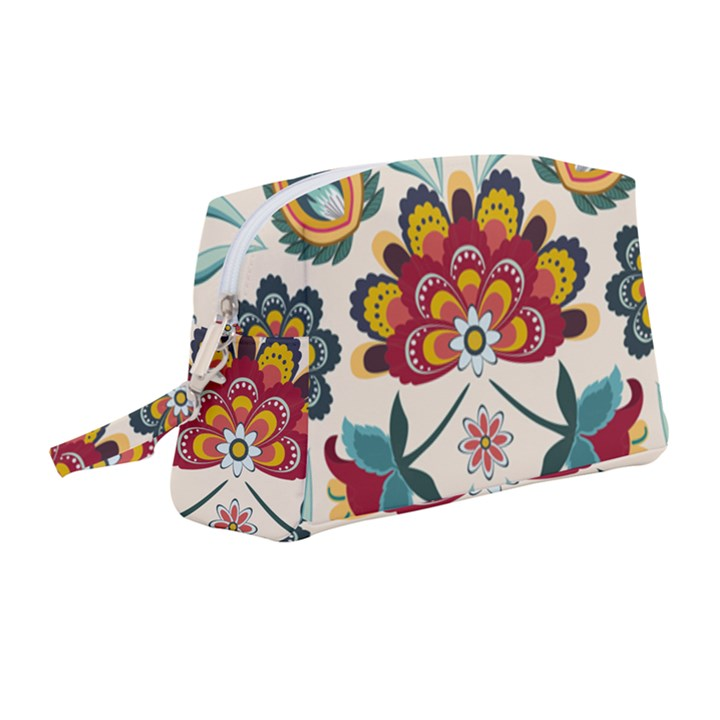 Baatik Print  Wristlet Pouch Bag (Medium)