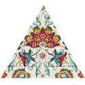 Baatik Print  Wooden Puzzle Triangle View1