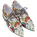 Baatik Print  Women s Pointed Oxford Shoes View3