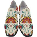 Baatik Print  Women Slip On Heel Loafers View1