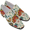 Baatik Print  Women Slip On Heel Loafers View3