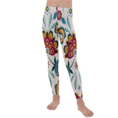 Baatik Print  Kids  Lightweight Velour Leggings