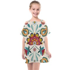 Baatik Print  Kids  One Piece Chiffon Dress