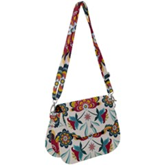 Baatik Print  Saddle Handbag