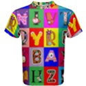 Alphabet Pattern Men s Cotton Tee View1