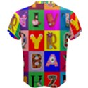 Alphabet Pattern Men s Cotton Tee View2
