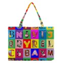Alphabet Pattern Medium Tote Bag View1