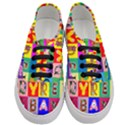 Alphabet Pattern Women s Classic Low Top Sneakers View1