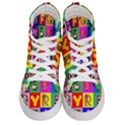 Alphabet Pattern Men s Hi-Top Skate Sneakers View1