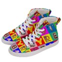 Alphabet Pattern Men s Hi-Top Skate Sneakers View2