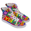 Alphabet Pattern Men s Hi-Top Skate Sneakers View3