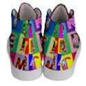 Alphabet Pattern Men s Hi-Top Skate Sneakers View4