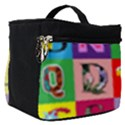 Alphabet Pattern Make Up Travel Bag (Small) View1