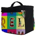Alphabet Pattern Make Up Travel Bag (Small) View2