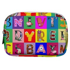 Alphabet Pattern Make Up Pouch (small)
