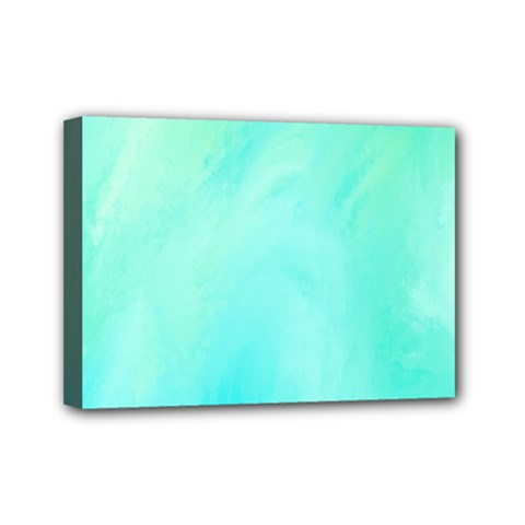 Blue Green Shades Mini Canvas 7  X 5  (stretched)