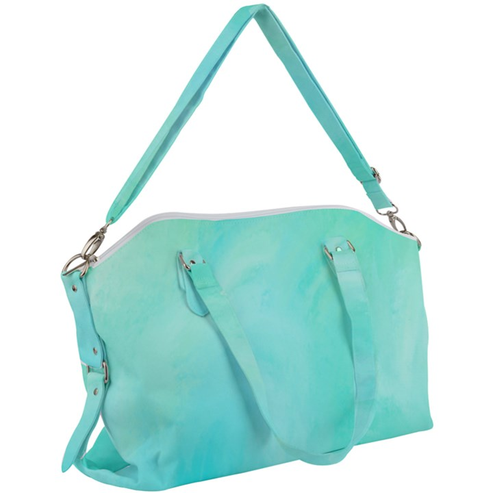 Blue Green Shades Canvas Crossbody Bag