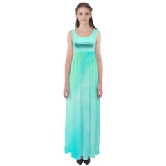 Blue Green Shades Empire Waist Maxi Dress by designsbymallika