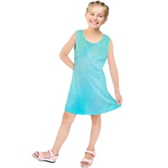 Blue Green Shades Kids  Tunic Dress by designsbymallika