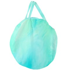 Blue Green Shades Giant Round Zipper Tote