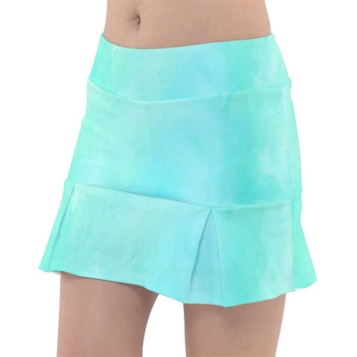 Blue Green Shades Tennis Skorts
