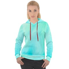 Blue Green Shades Women s Overhead Hoodie