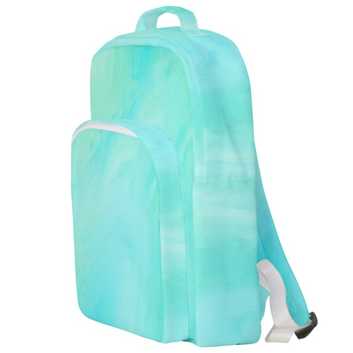 Blue Green Shades Double Compartment Backpack