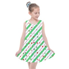 Christmas Paper Stars Pattern Texture Background Colorful Colors Seamless Copy Kids  Summer Dress