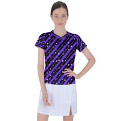 Christmas Paper Star Texture Women s Mesh Sports Top