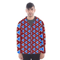 Pattern Triangles Seamless Red Blue Seamless Pattern Texture Seamless Patterns Repetition Men s Hooded Windbreaker by Vaneshart