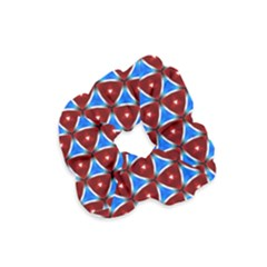 Pattern Triangles Seamless Red Blue Seamless Pattern Texture Seamless Patterns Repetition Velvet Scrunchie