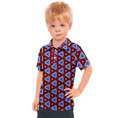 Pattern Triangles Seamless Red Blue Seamless Pattern Texture Seamless Patterns Repetition Kids  Polo Tee