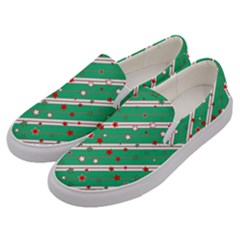 Christmas Paper Stars Pattern Texture Background Men s Canvas Slip Ons by Vaneshart
