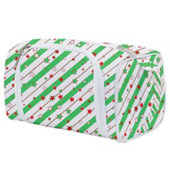 Christmas Paper Stars Pattern Texture Background Colorful Colors Seamless Toiletries Pouch